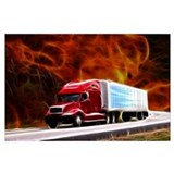 Tractor trailer Framed Prints