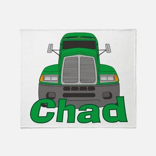 Trucker Chad Throw Blanket