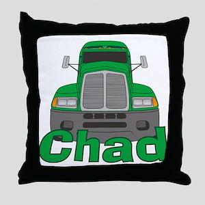 Trucker Chad Throw Pillow