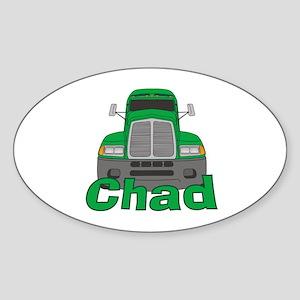 Trucker Chad Sticker (Oval)