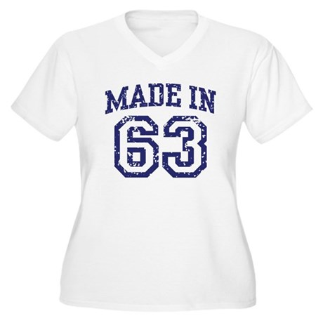 Made in 63 Women's Plus Size V-Neck T-Shirt