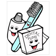Funny Dentist Dental Hygienist Wall Art Poster