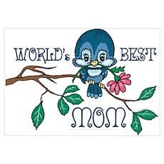 Birdie Best Mom Wall Art Poster