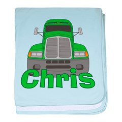 Trucker Chris baby blanket
