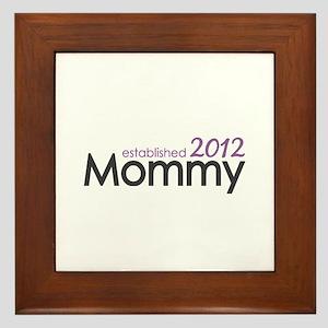 Mommy Established 2012 Framed Tile