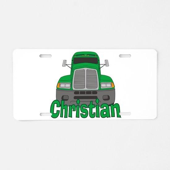Trucker Christian Aluminum License Plate