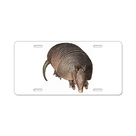 Armadillo Aluminum License Plate