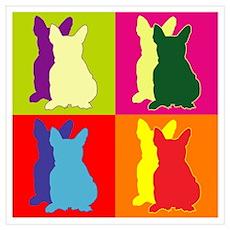 French Bulldog Silhouette Pop Art Wall Art Poster