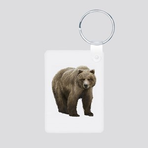 Bear Aluminum Photo Keychain