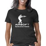 your doing it wrong - whit Women's Classic T-Shirt