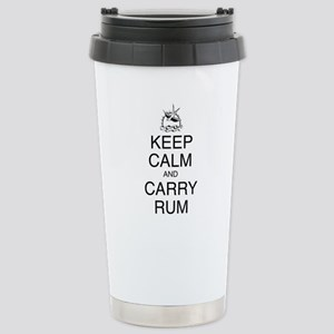 Keep Calm and Carry Rum Stainless Steel Travel Mug