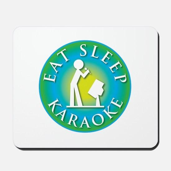 Eat Sleep KARAOKE Mousepad