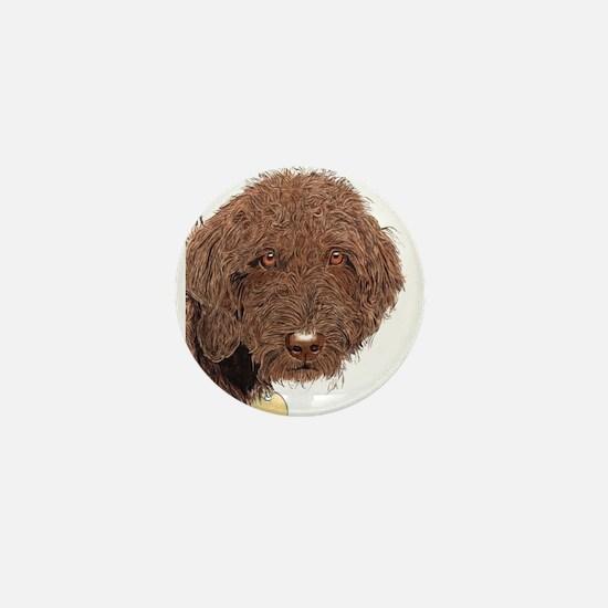 Chocolate Labradoodle 2 Mini Button