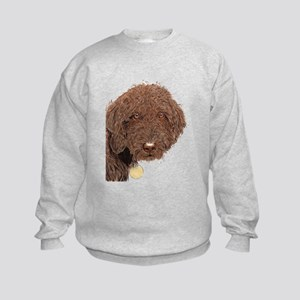 Chocolate Labradoodle 2 Kids Sweatshirt