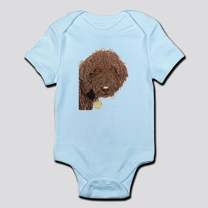 Chocolate Labradoodle 2 Infant Bodysuit