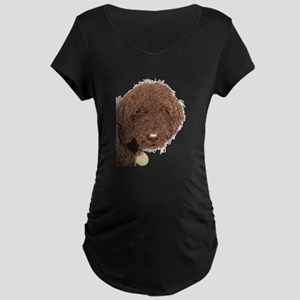 Chocolate Labradoodle 2 Maternity Dark T-Shirt