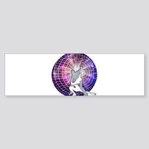 Ice Dancers in Colorful Circular St Bumper Sticker
