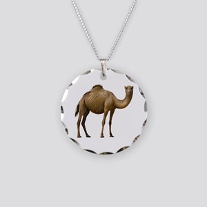 Camel Necklace Circle Charm
