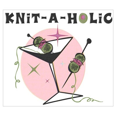 Knit-A-Holic Wall Art Poster