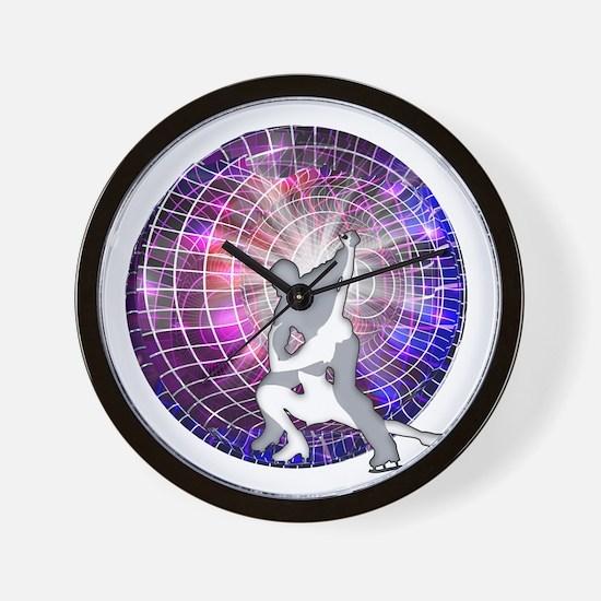 Ice Dancers in Colorful Circular Strobe Wall Clock