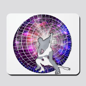 Ice Dancers in Colorful Circular Strobe Mousepad