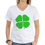 Four Leaf Clover Women's V-Neck T-Shirt