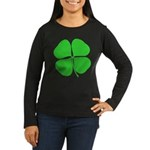 Four Leaf Clover Women's Long Sleeve Dark T-Shirt