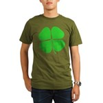 Four Leaf Clover Organic Men's T-Shirt (dark)