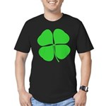 Four Leaf Clover Men's Fitted T-Shirt (dark)