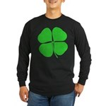 Four Leaf Clover Long Sleeve Dark T-Shirt