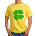 Four Leaf Clover Yellow T-Shirt