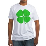 Four Leaf Clover Fitted T-Shirt