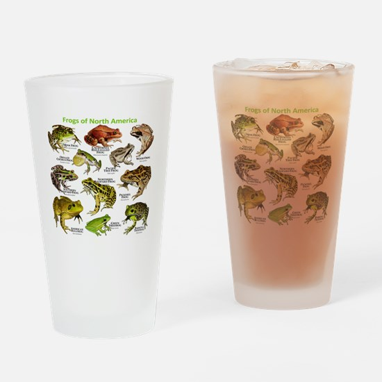 Frogs of North America Drinking Glass