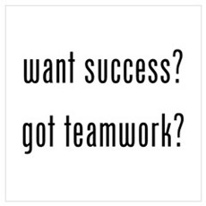 want success? got teamwork? Wall Art Canvas Art