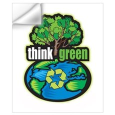 Think Green Wall Art Wall Decal