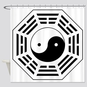8 Trigrams Later Heaven Shower Curtain