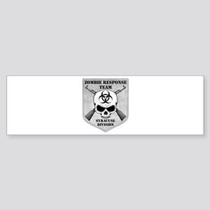Zombie Response Team: Syracuse Division Sticker (B