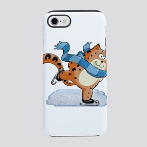 Spotted Ginger Cat with Scarf iPhone 7 Tough Case