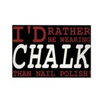Wearing Chalk Rectangle Magnet