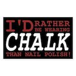 Wearing Chalk Sticker (Rectangle)