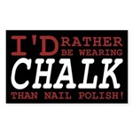 Wearing Chalk Sticker (Rectangle 10 pk)