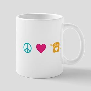 HG Peace Love Peeta Mug