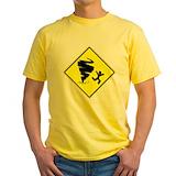 Tornado Mens Classic Yellow T-Shirts