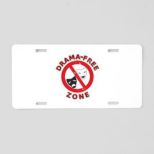 Drama Free Zone Aluminum License Plate