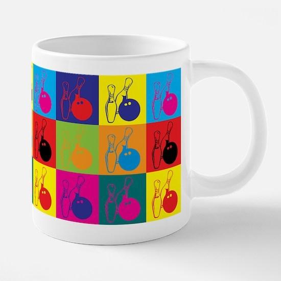 Bowling Pop Art Mugs
