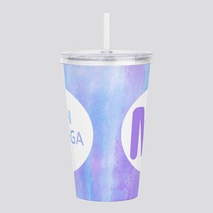 Chi Omega Purple Monog Acrylic Double-wall Tumbler