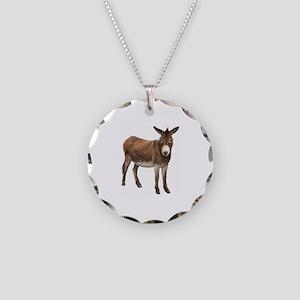 Donkey Necklace Circle Charm
