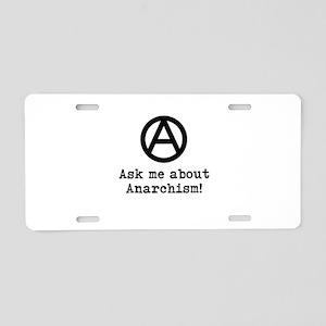Ask Me! Aluminum License Plate