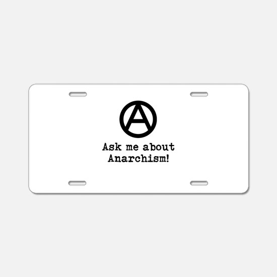Ask Me! Aluminum License Plate