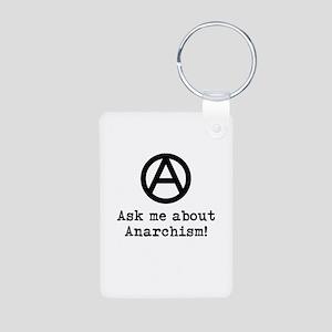 Ask Me! Aluminum Photo Keychain